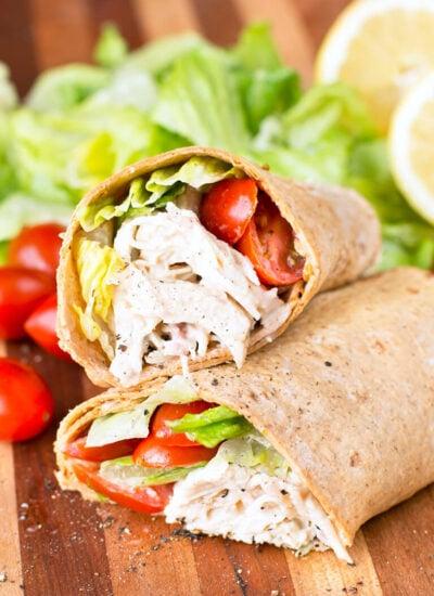 Chicken Caesar Salad Wraps Recipe