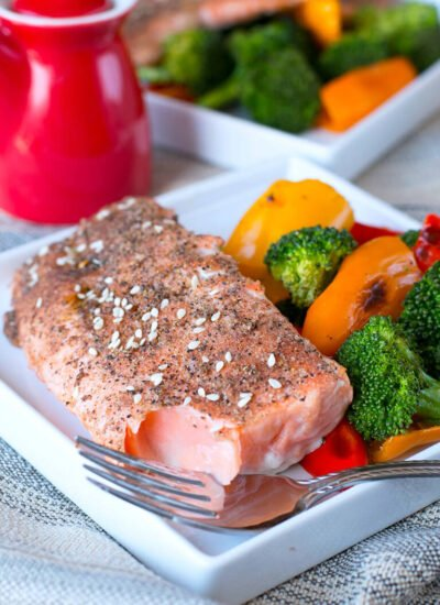 Sesame Broiled Salmon Recipe With Vegetables