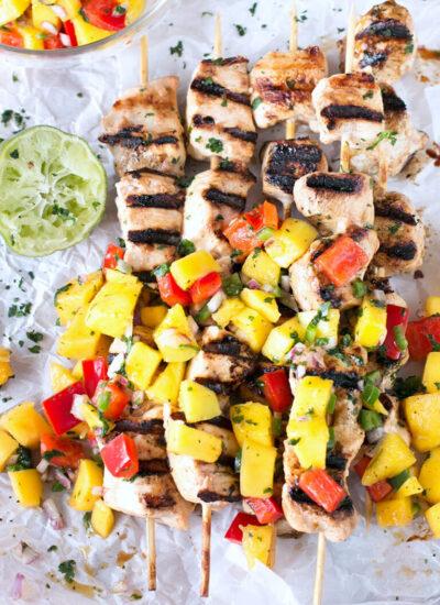 Mango Chicken kabob or skewers recipe
