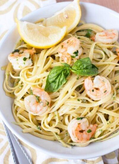 Pesto Shrimp Scampi recipe