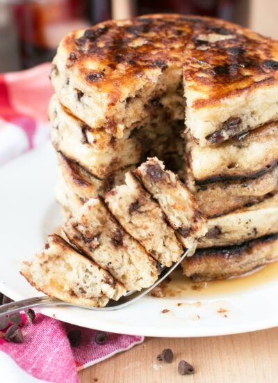 Classic Chocolate Chip Pancakes