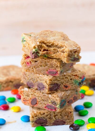 How To Make Brown Butter Blondies With M&M's
