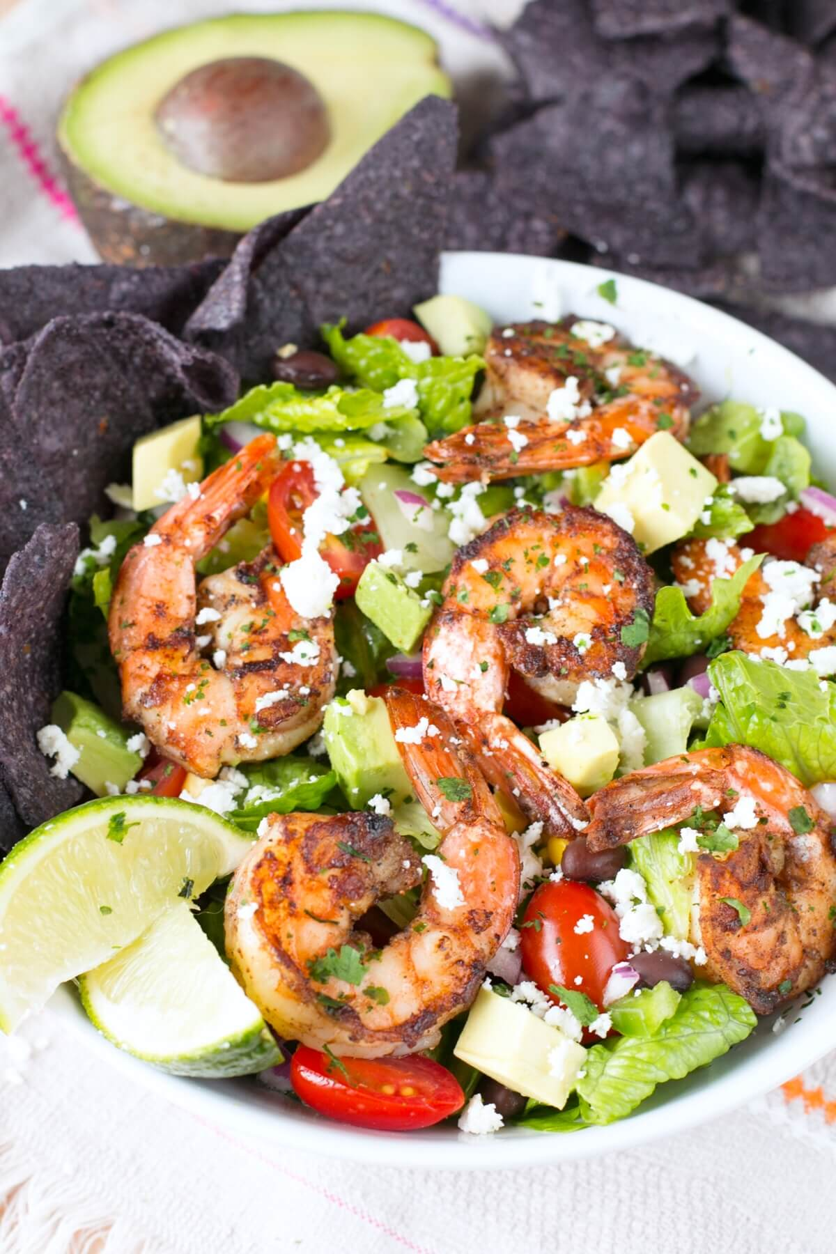 How To Make A Mexican Shrimp Healthy Taco Salad