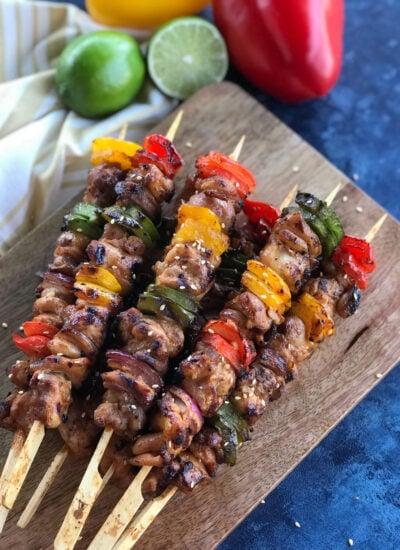 Homemade chicken shish kabob
