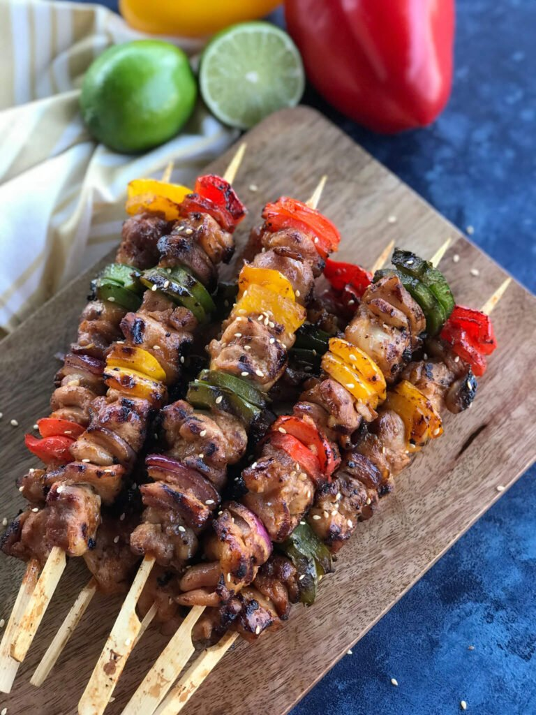 Bbq Teriyaki Chicken Skewers