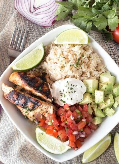 Healthy Grilled Chicken Burrito Bowls