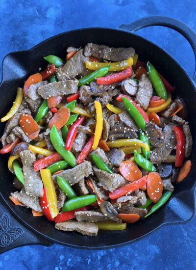 Asian Pepper Steak Stir Fry - colorful and delicious meal