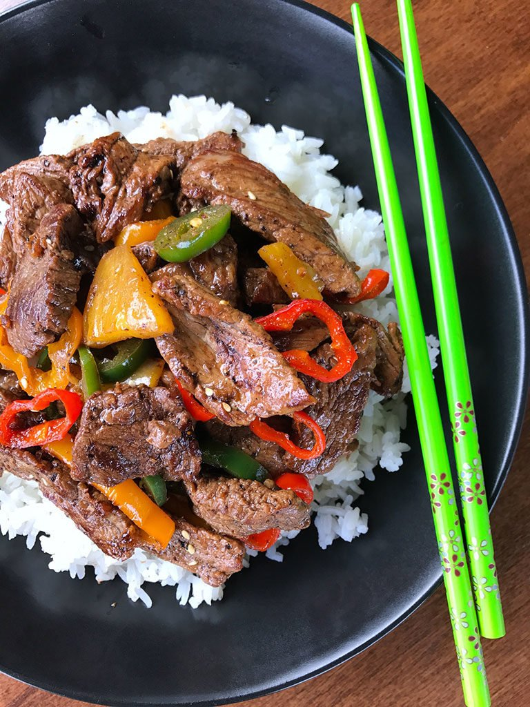 Pineapple Pepper Steak Stir Fry
