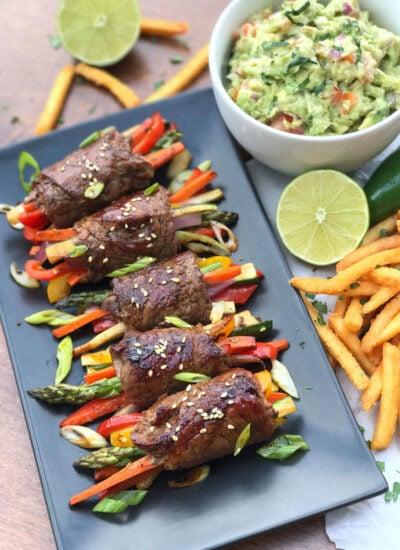 Steak and Veggie Rollups Recipe