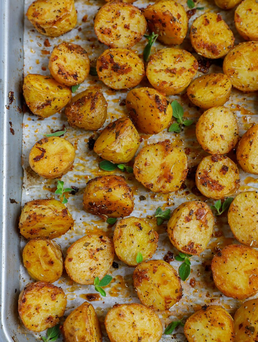 Oven Roasted Baby Potatoes Cookin With Mima