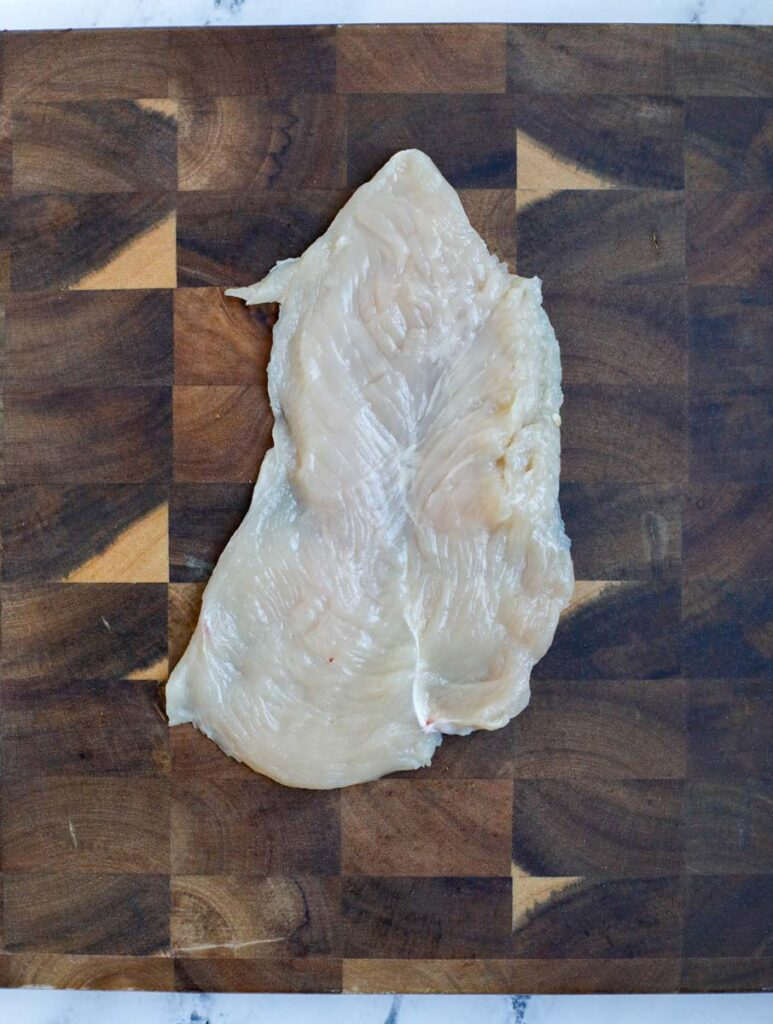 Flattened chicken.