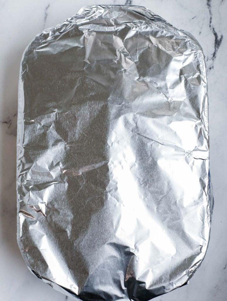 turkey covered to finish up baking