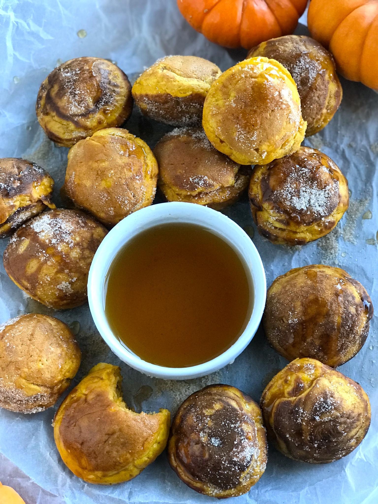 Super Fun Pumpkin Pancake Bites