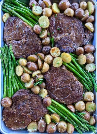 Steak and Potato with Asparagus Recipe