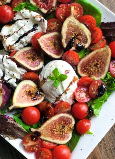 Burrata Fig Salad Keto friendly