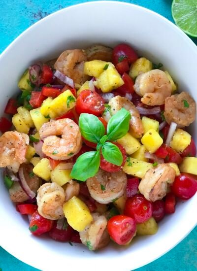 This Pineapple Shrimp Salad is so delicious
