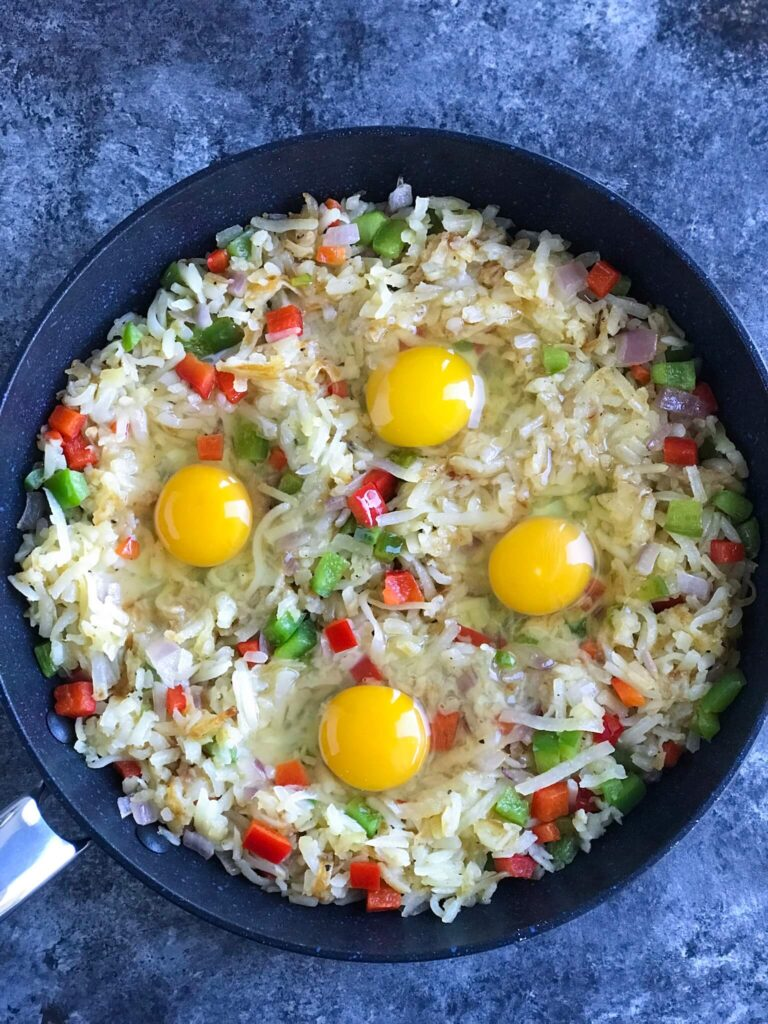 Veggie Hashbrown with Eggs