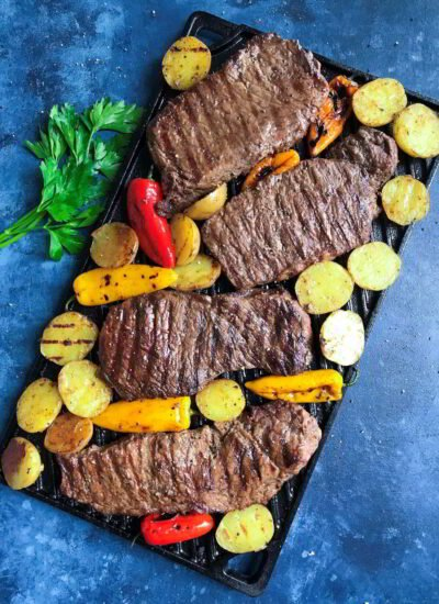 Grilled Teak and Potatoes healthy meal and requires little effort and time