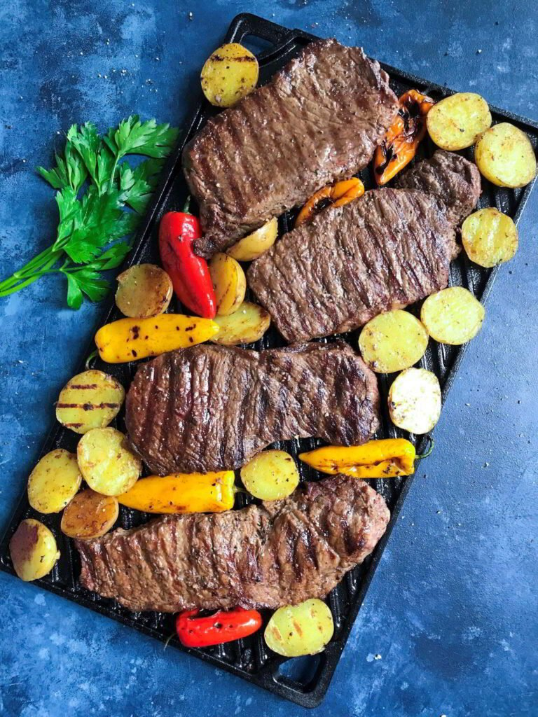 Grilled Steak and Potatoes