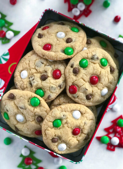Fresh Made Santa's M&M Cookies