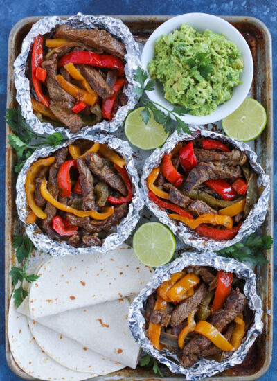 Steak Fajita Foil Packs