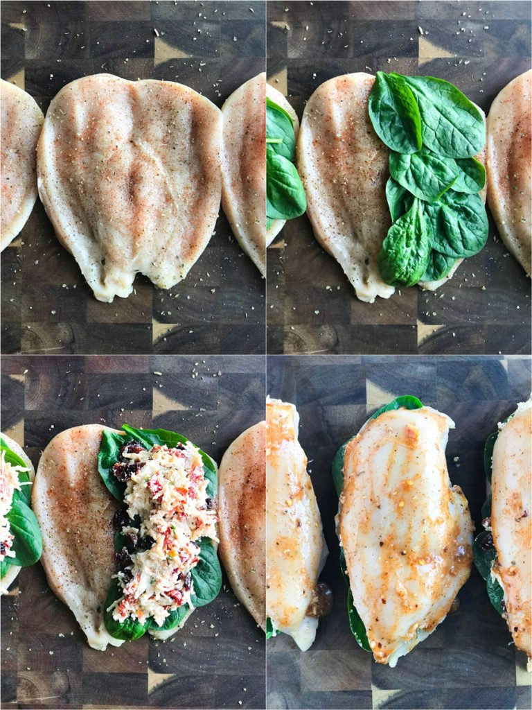 step by step of how to butterfly a chicken breast