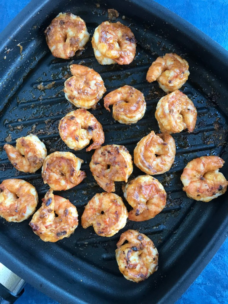 Shrimps in a pan