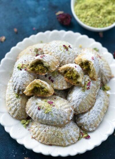 Traditional Lebanese maamoul cookies