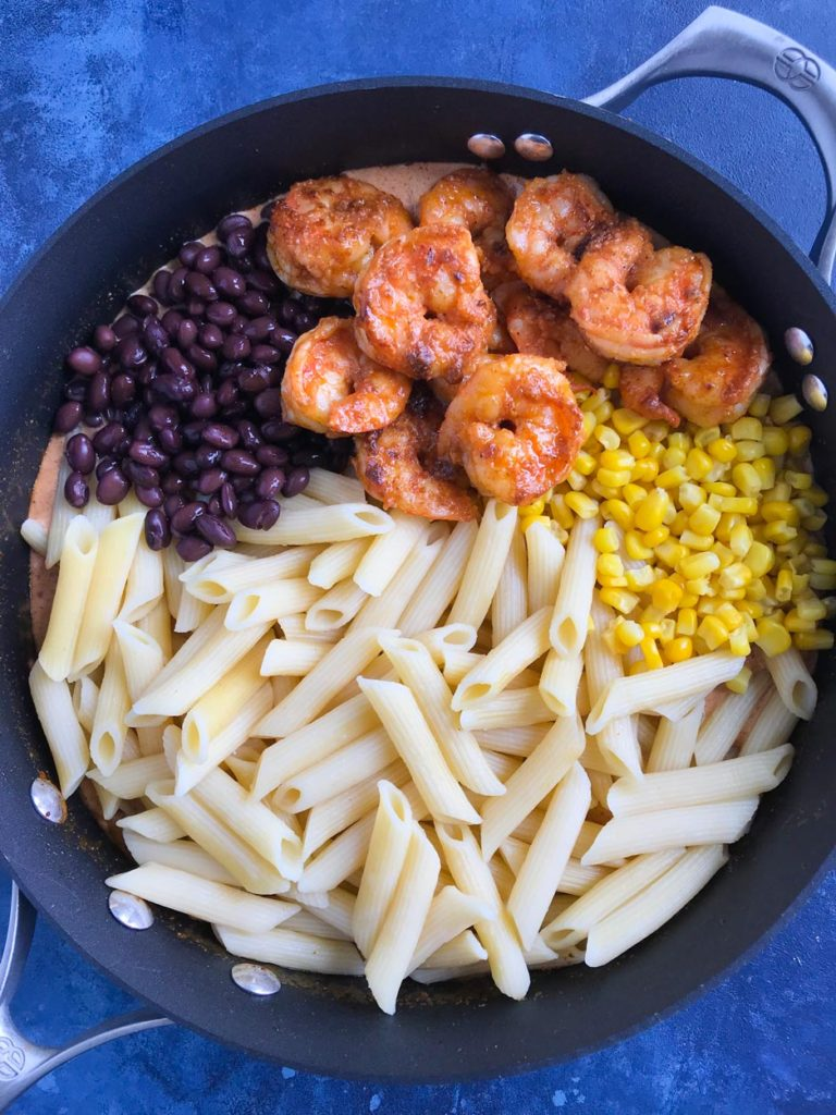 Southwest Shrimp Pasta