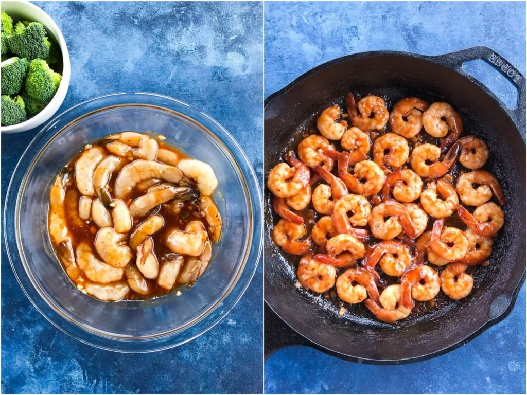 teriyaki Shrimps marinating
