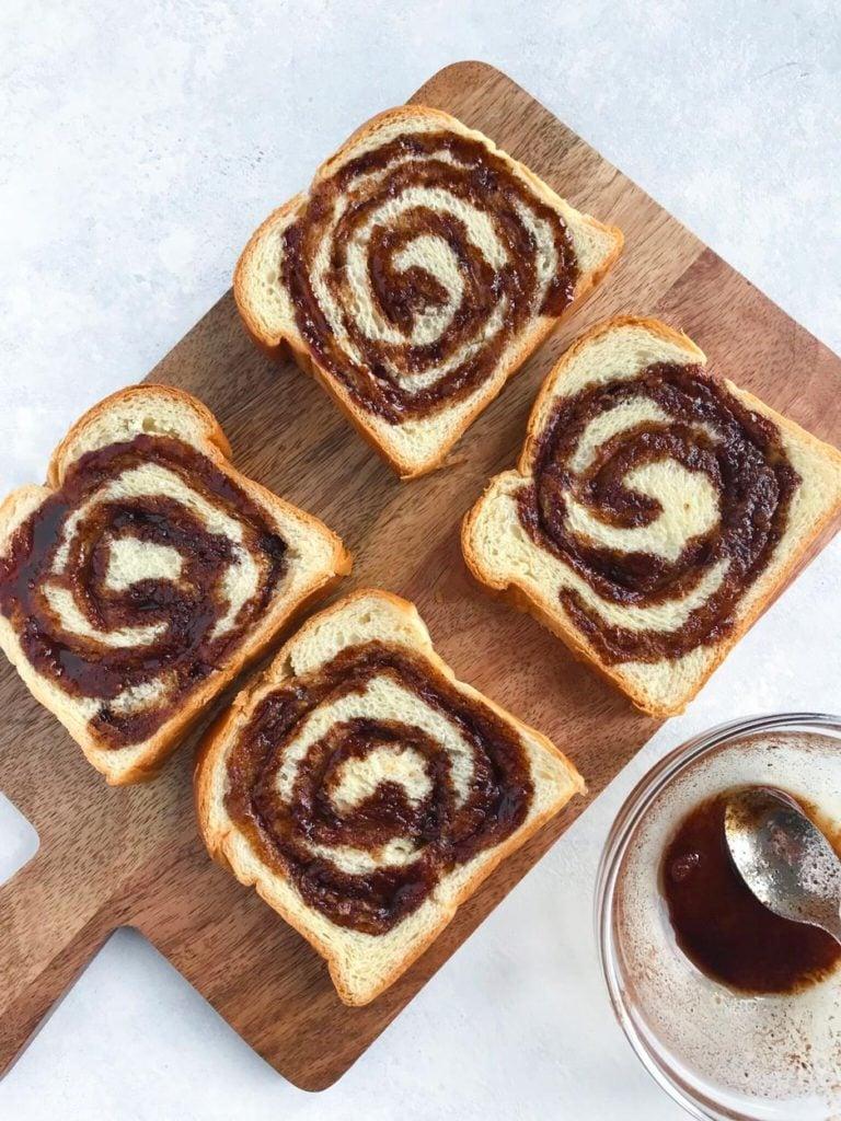 Cinnamon Swirls on some bread
