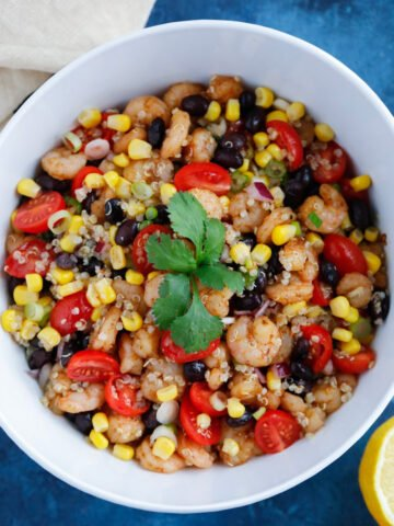 Healthy Southwest Shrimp Quinoa Salad