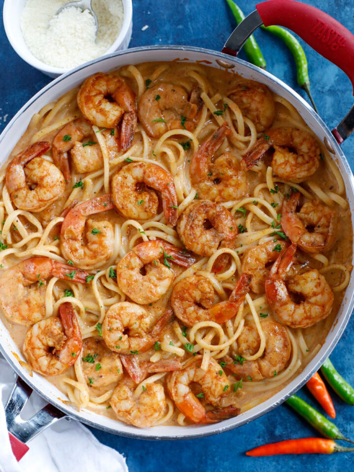 Creamy Cajun Shrimp Pasta with Cajun sauce