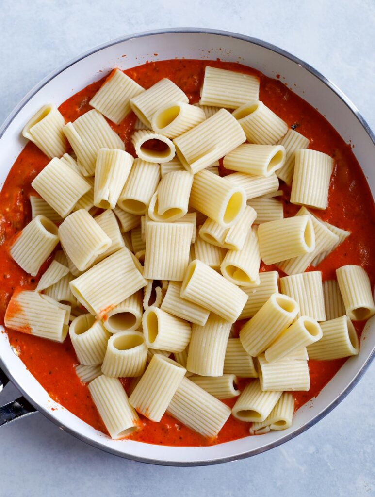 pasta in sauce
