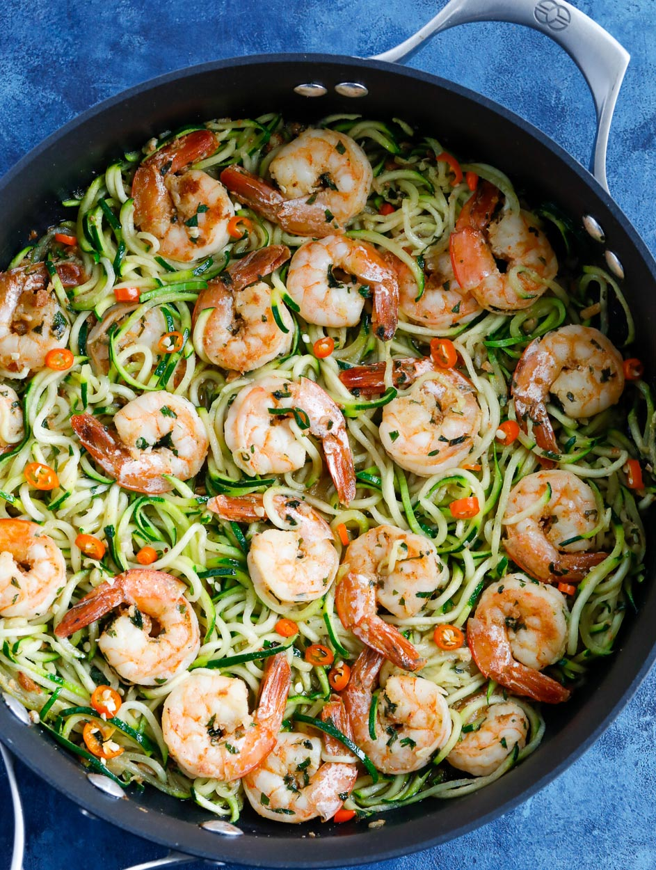 Garlic Shrimp Zoodles Recipe