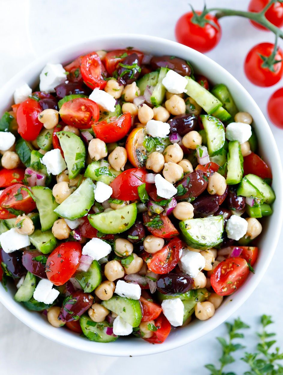 Greek Chickpea Salad Recipe