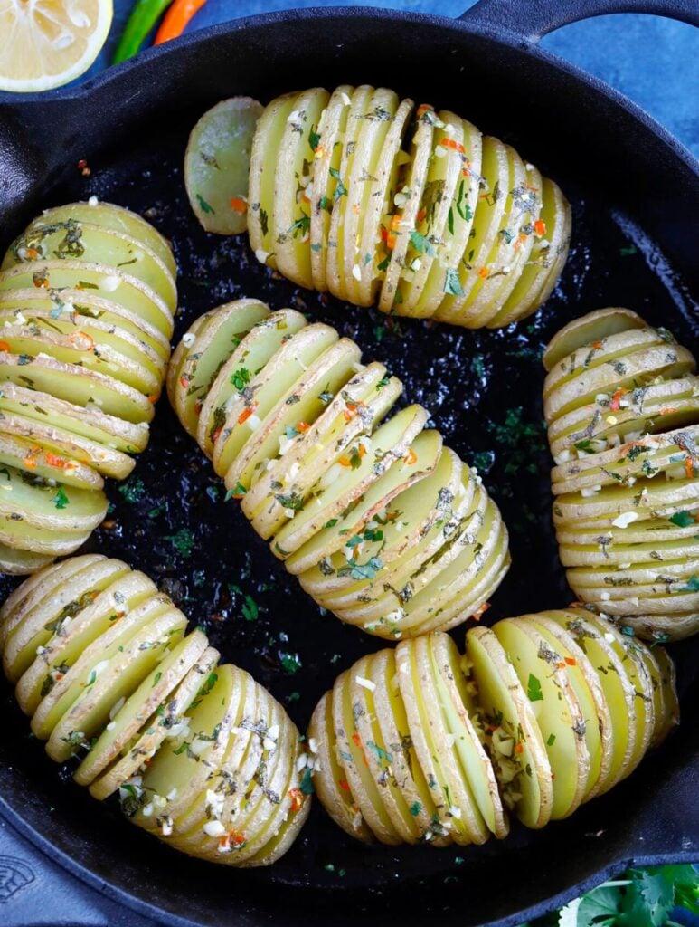 Spicy Hassleback Potatoes