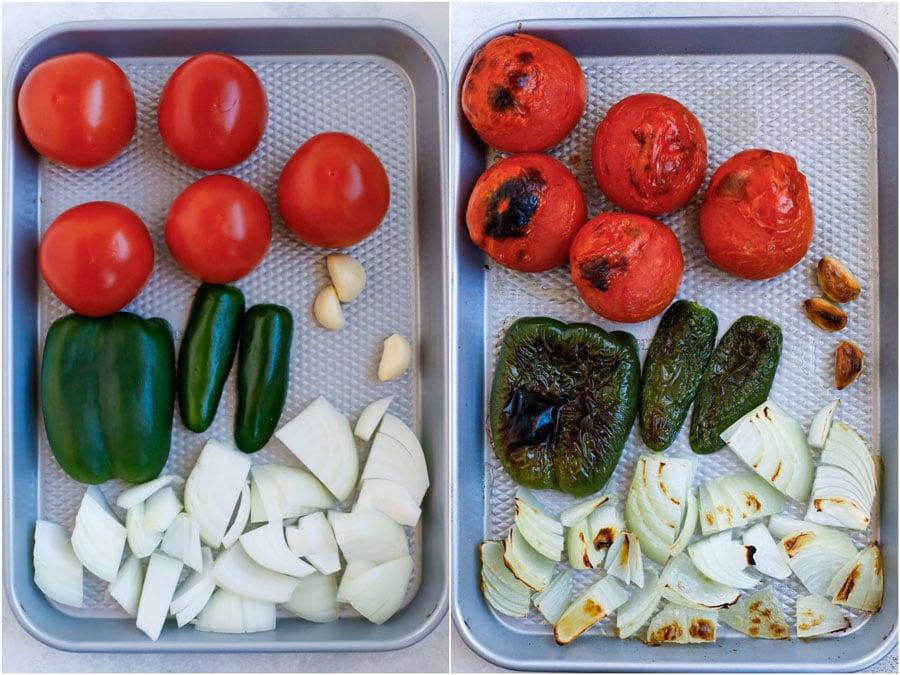 roasted veggies for salsa