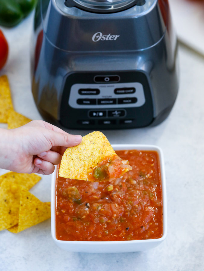 homemade salsa and chips