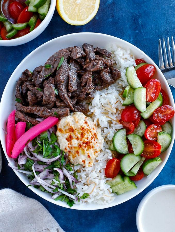 easy beef shawarma bowl recipe
