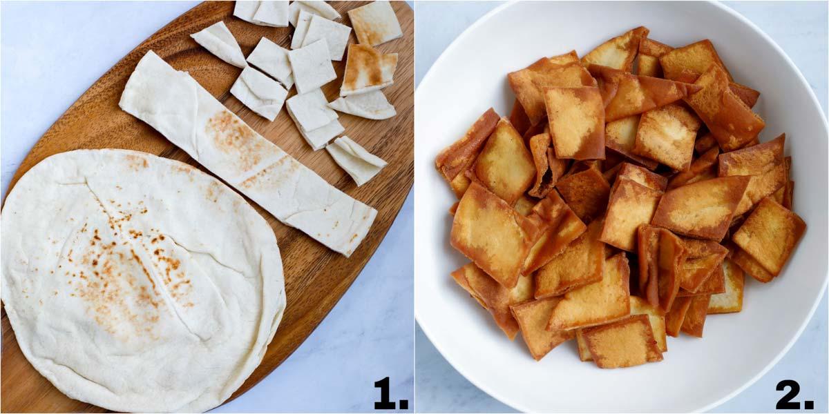 The fried pita bread