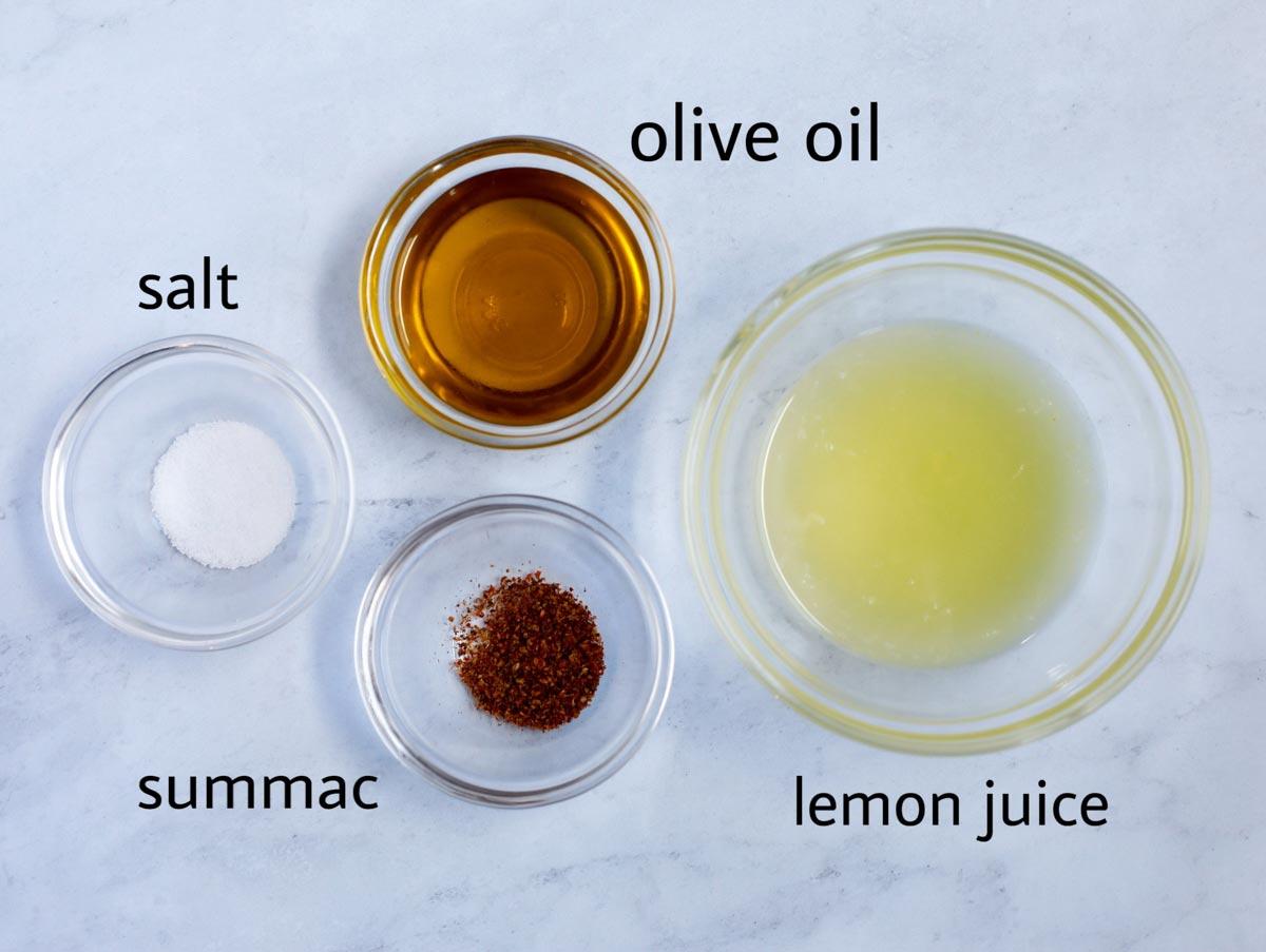 Ingredients to make the dressing