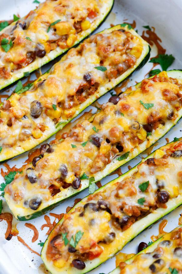 Baked Southwest Zucchini Boats