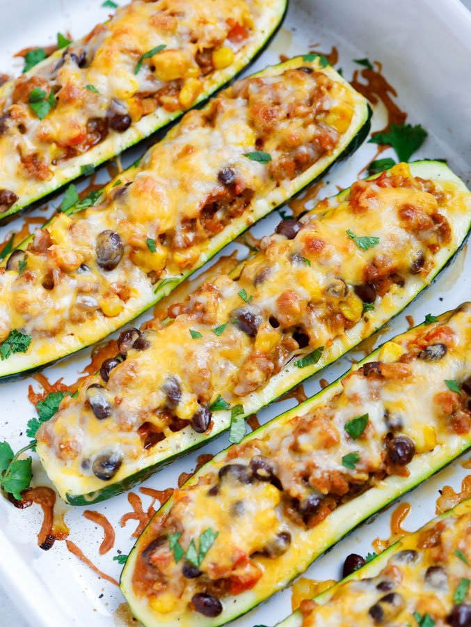 Baked Southwest Zucchini Boats Recipe