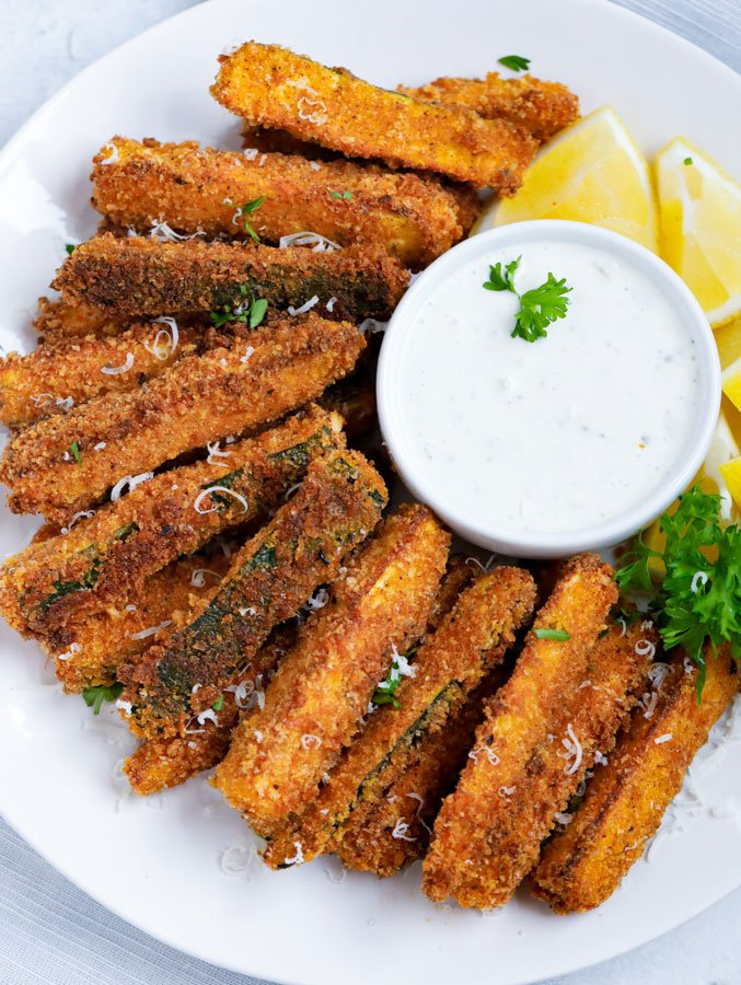 spicy baked zucchini fries