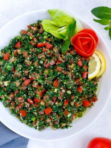 Lebanese Tabbouleh Middle Eastern Salad Recipe
