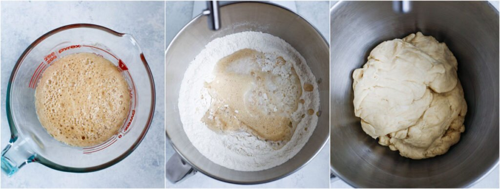 spinach pie dough mixture shown in bowl