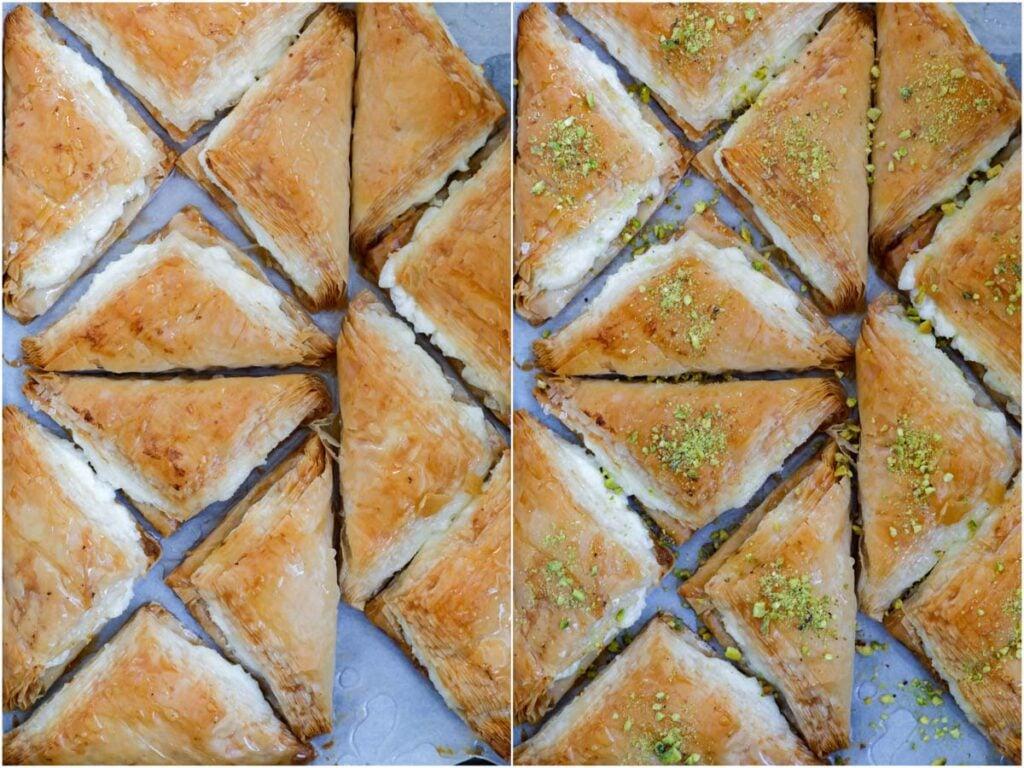 baked shaabiyat on a tray