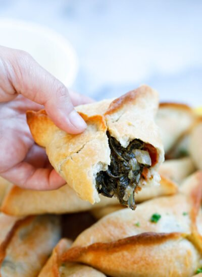 Lebanese Spinach Pies filling