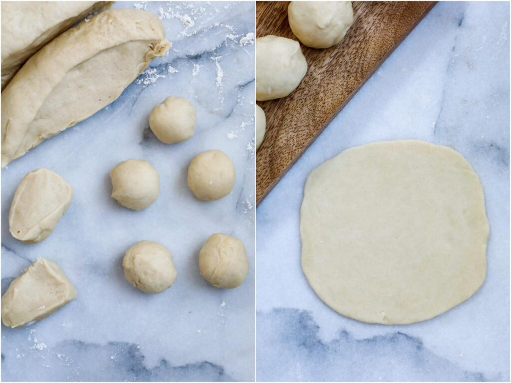 dough formed into small balls